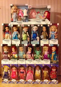 muñecas  princesas disney animators collection